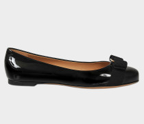 Ballerinas Varina Patent aus schwarzem Lackleder