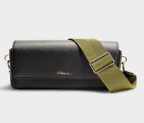 Handtasche mit Schulterriemen Ray Ringtte aus schwarzem Kalbsleder