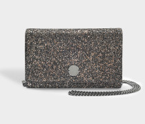 Florence Clutch Tasche aus Bronze Mix night Glitzerstoff