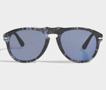 649 Series Sonnenbrille aus blauem Acetat