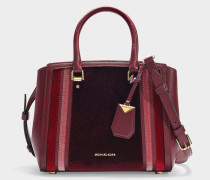 Benning Medium Messenger Bag in Burgundy Velvet