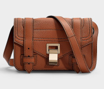 Mini Handtasche mit Schulterriemen PS1+ aus rotem Kalbsleder