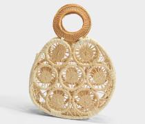 Round Stroh small Tasche aus Natural Stroh