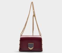 Handtasche Lockett Petite aus Bordeauxrotem Kalbsleder