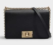 Tasche Crossbody  Mimi' S aus schwarzem Kalbsleder