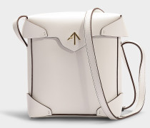 Mini Handtasche Pristine aus pflanzlichem Kalbsleder in Weiß