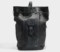 Franklyn Tasche aus schwarzem perforiertem Kalbsleder