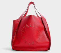 Shopper East West Logo aus Alter Nappa in Rot