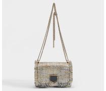 Mini Handtasche Lockett aus silberner und goldener Baumwolle
