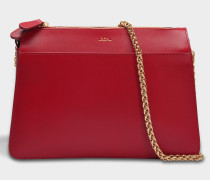 Ella Tasche aus rotem glänzend Kalbsleder