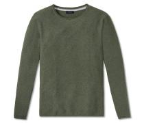 Pullover Strick Struktur rundhals grün meliert - selected! premium