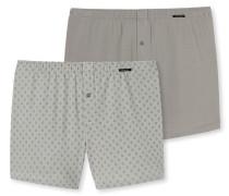 Boxershorts Jersey 2er-Pack khaki - Essentials