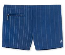 Bade-Retro Reißverschluss-Tasche indigo gestreift - Aqua Rimini