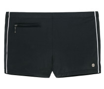 Bade-Retroshorts mit Reißverschluss-Tasche schwarz - Aqua
