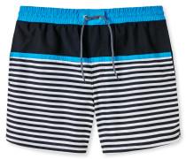 Swimshorts Webware Streifen Colour Blocking mehrfarbig - Aqua Nautical