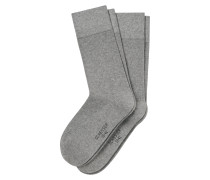 Herrensocken 2er-Pack grau meliert - Cotton Fit