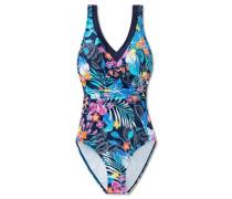 Badeanzug Shaping-Effekt Blumenprint mehrfarbig - Mix & Match Tropic Paradise