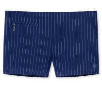 Bade-Retro Wirkware Reißverschlusstasche dunkelblau-grau gestreift - Aqua
