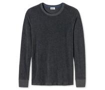 Shirt langarm dunkelgrau meliert - Revival Hartmut