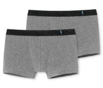Shorts 2er-Pack grau melierte - 95/5