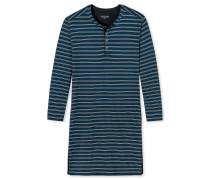 Nachthemd langarm Ringel Knopfleiste mehrfarbig - At Home