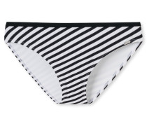 Tai-Bikinislip Streifen schwarz-weiß - Mix & Match Nautical