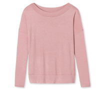 Shirt langarm Bündchen rosé - Mix & Relax Lounge