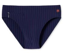 Bade-Sir Reißverschluss-Tasche dunkelblau-orange gestreift - Aqua Miami