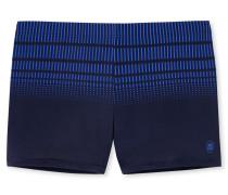 Bade-Retroshorts dunkelblau bedruckt - Aqua Miami