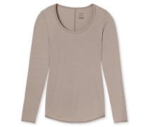 Shirt langarm braun - Personal Fit