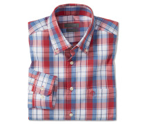 Hemd langarm bügelfrei Button-Down-Kragen mehrfarbig kariert - REGULAR-FIT