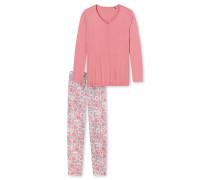 Schlafanzug lang Mohnblumen himbeer-rot - Sometimes feelin´ like a red poppy flower