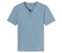 Shirt kurzarm Knopfleiste hellblau - Mix & Relax