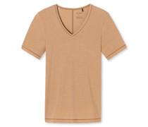 Shirt kurzarm V-Ausschnitt hautfarben - Personal Fit