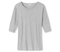 Shirt 3/4-Arm sibergrau meliert - Revival Carina