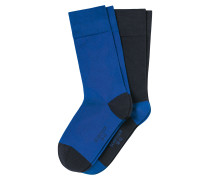 Herrensocken 2er-Pack royal/ navy - Cotton Fit