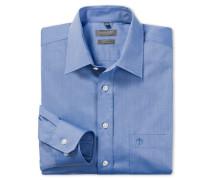 blaues Oberhemd in Comfort-Fit-Schnittform