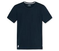 Shirt kurzarm Rundhals dunkelblau - Mix & Relax