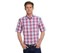 Hemd kurzarm bügelfrei Button-Down-Kragen mehrfarbig kariert - REGULAR-FIT