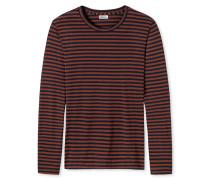 Shirt langarm rost-dunkelblau - Revival Josef