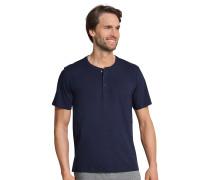 Shirt kurzarm Knopfleiste dunkelblau - Mix & Relax