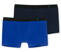 Shorts 2er-Pack royalblau/dunkelblau - 95/5