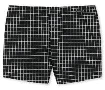 Boxershorts Jersey schwarz/weiß kariert - Original Classics