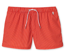Swimshorts Webware orange gestreift - Aqua Miami