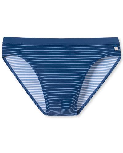 Bade-Supermini blaugrau gestreift - Aqua Rimini
