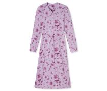 Nachthemd langarm Jersey Blumenmuster malve - Winter Blossoms