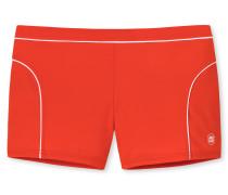 Bade-Retro orange mit weißer Paspelierung - Aqua Miami
