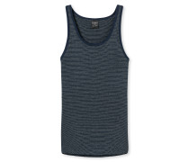 Unterhemd Feinripp dunkelblau - Feinripp melange