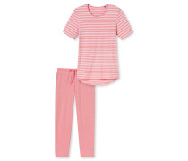 Schlafanzug T-Shirt 7/8-Hose Ringel himbeere - Sometimes feelin´ like a red poppy flower
