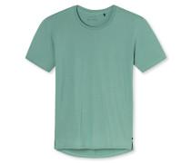 Shirt kurzarm Funktionsschnitt grün - Mix & Relax